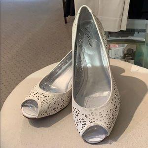 NWT peep toe, wedge shoe
